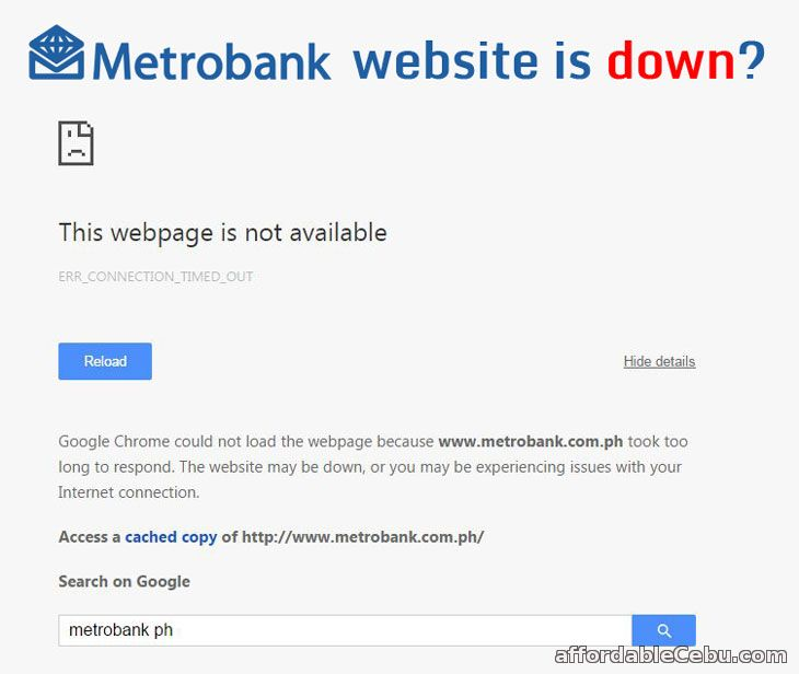 Metrobank website is down?