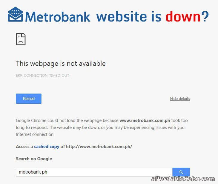 Metrobank website is down?