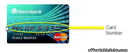 Metrobank Credit Card Number