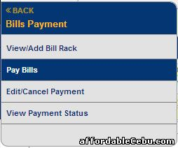 Pay PLDT bill thru BDO online banking