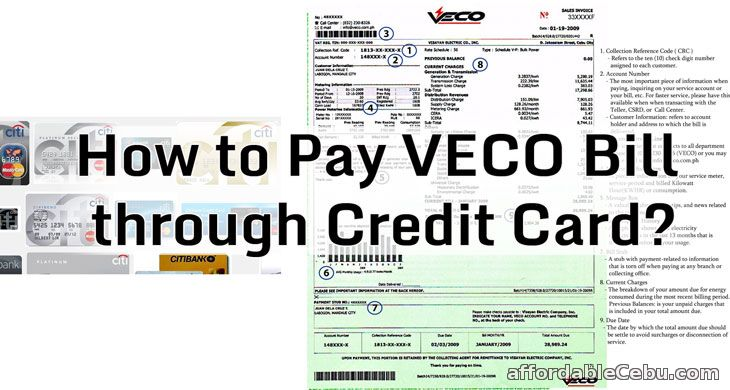 Pay VECO bill through credit card
