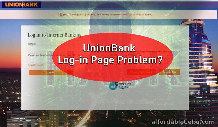 Unionbank Login Page Problem or Hack