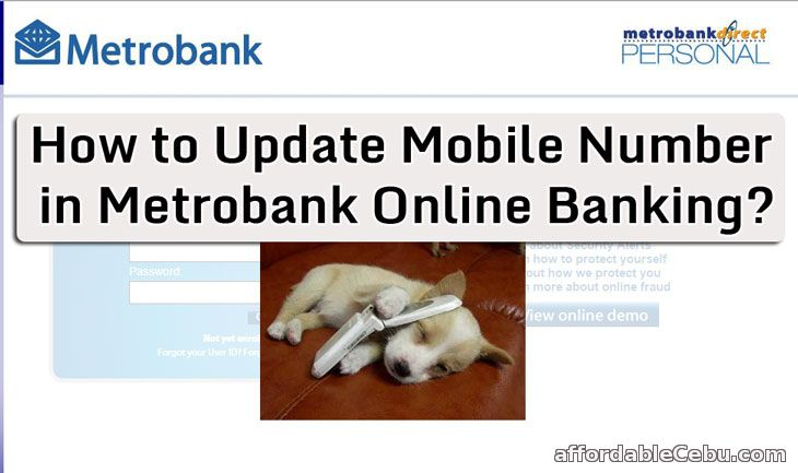 Update Mobile Number in Metrobank Online Banking