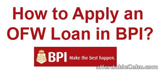 Apply OFW loan in BPI