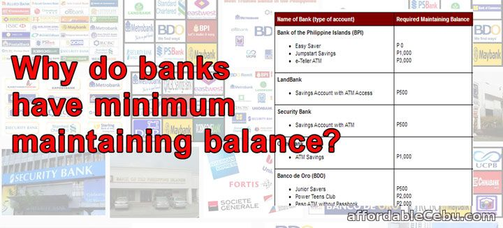 Why banks have no maintaining balance?