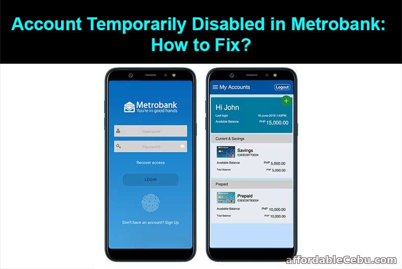Account Temporarily Disabled in Metrobank: How to Fix?