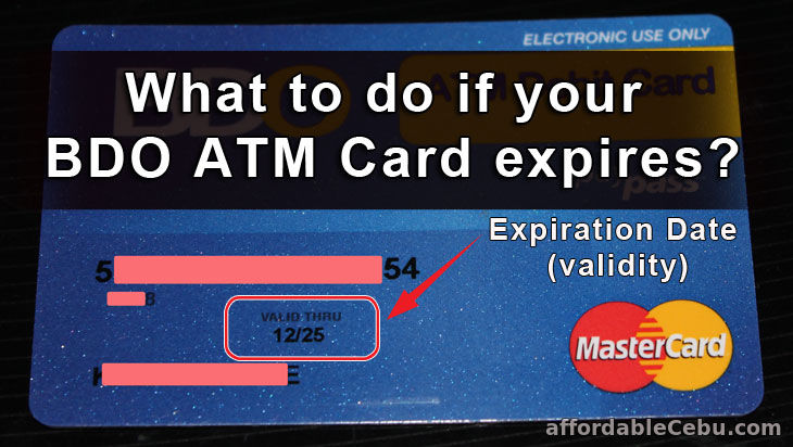 BDO ATM Card expire