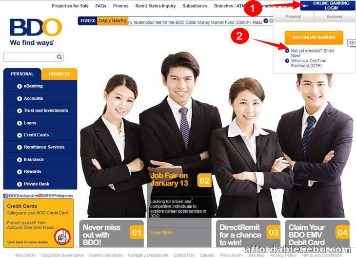BDO ATM Debit Card Balance Inquiry Online