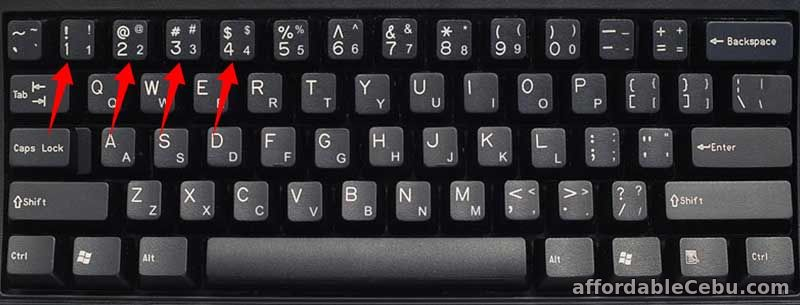 Computer Keyboard Numbers, Symbols, Buttons