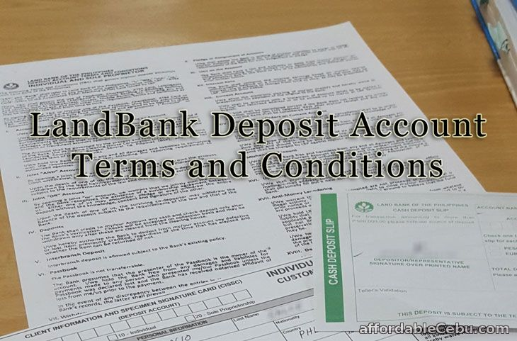 LandBank Deposit Account Terms and Conditions