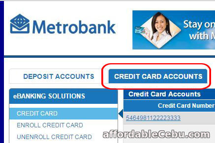 Metrobank Credit Card Statement of Account