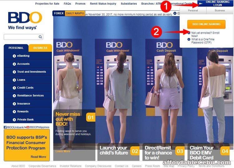 Register BDO Credit Card Online Banking