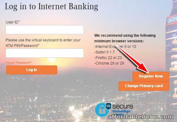 Register UnionBank account to online banking