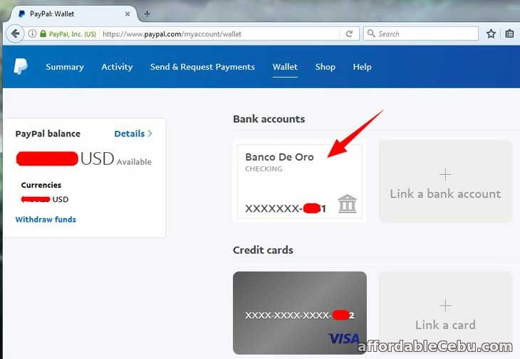Remove BDO Account from Paypal Account