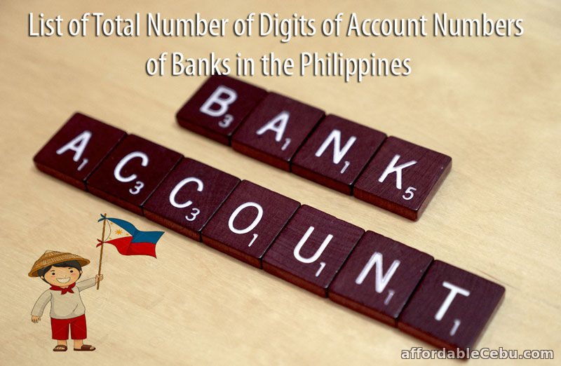Total Digits of Account Number of Banks in Philippines