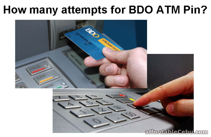 Total Wrong Attempts for BDO ATM Pin