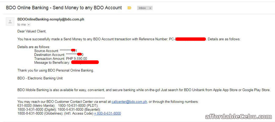 How to Transfer Money Thru BDO Online Banking (Email Confirmation)?