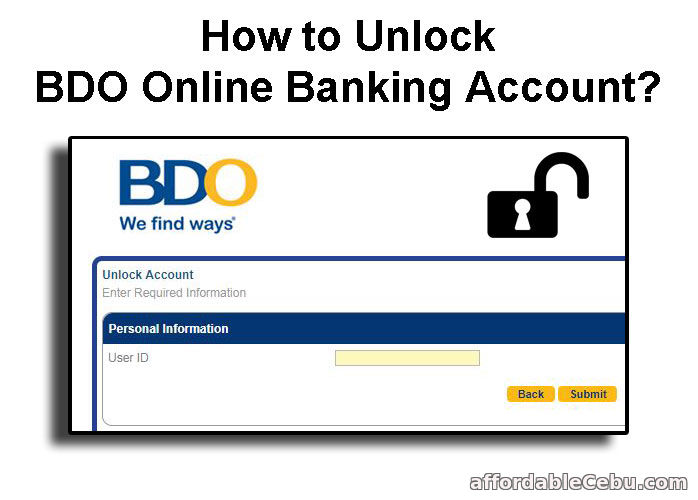 Unlock BDO Online Banking Account