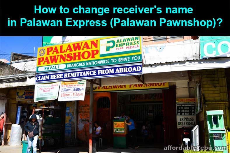 How to change receiver's name in Palawan Pawnshop