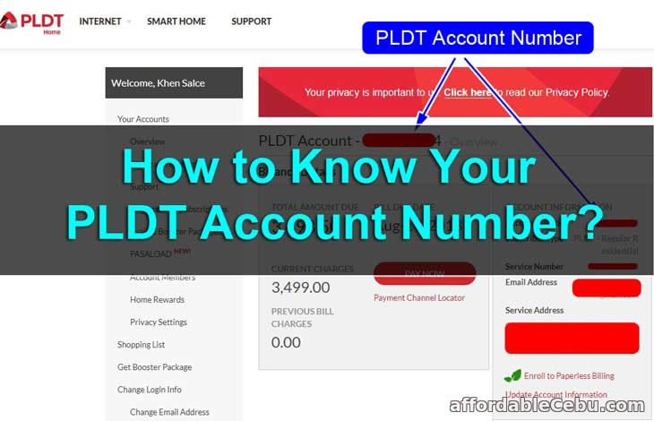 How to Know Your PLDT Account Number? - Business 30803