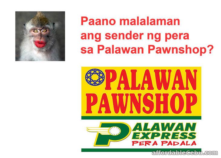 Paano malalaman ang sender ng pera sa Palawan Pawnshop?