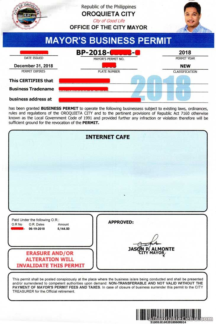 New Business Permit in the Philippines 2018