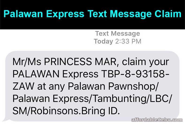 Palawan Express Text Message Claim