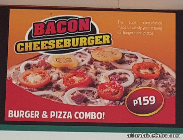 Bianos Pizza Bacon CheeseBurger