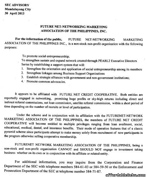 Future Net-Networking Marketing Association of the Philippines Scam