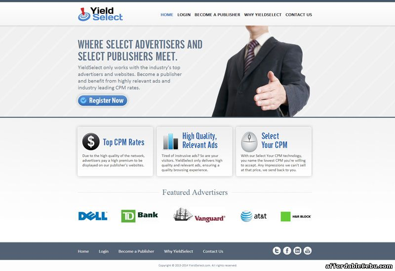 YieldSelect website