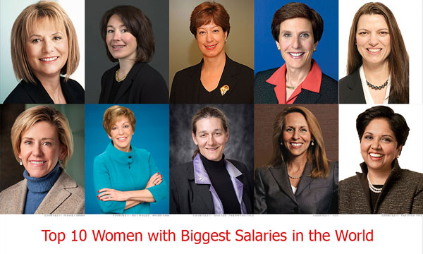 Top 10 Women with Biggest Salaries in the World