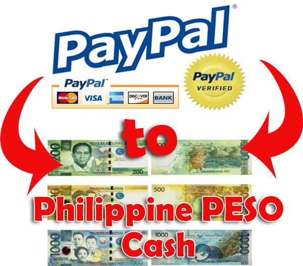 Withdraw Paypal Funds into Philippine Peso Cash
