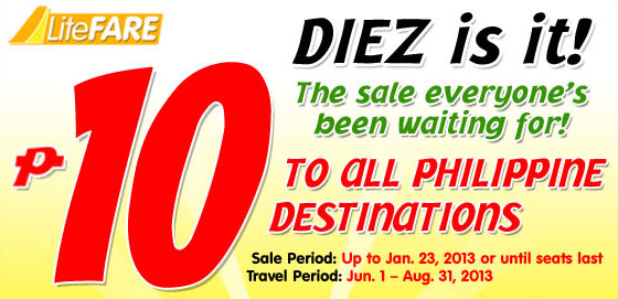 Cebu Pacific Promo June, July, August 2013