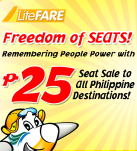 Cebu Pacific Promo Philippines to Singapore and P25pesos to All