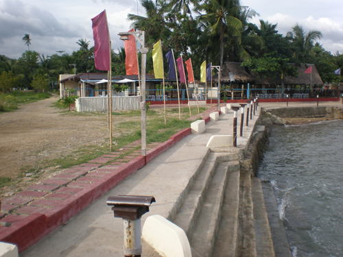 Guanzon Beach Resort Sea Wall