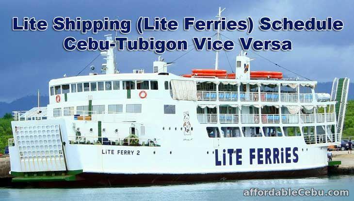 Lite Shipping Schedule Cebu-Tubigon Vice Versa