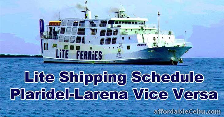Lite Shipping Schedule Plaridel-Larena Vice Versa