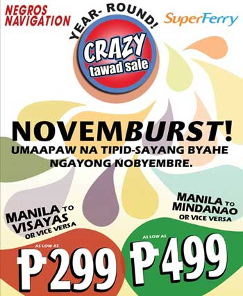 Negros Navigation and Super Ferry Latest Promo