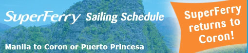 Super Ferry Schedule from Manila to Coron