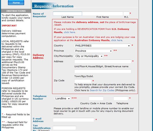 CENOMAR Application Form