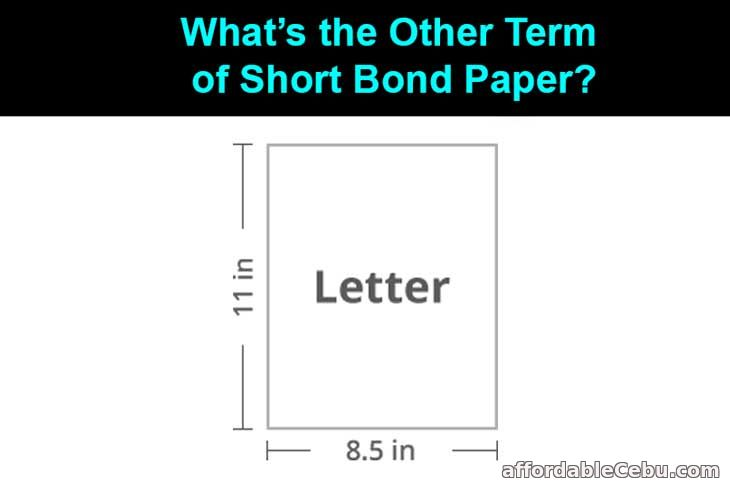 Other term of short bond paper