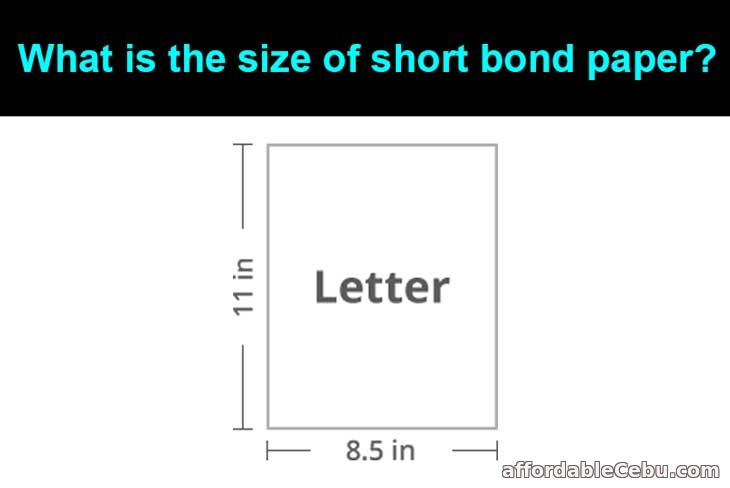 Size of Short Bond Paper