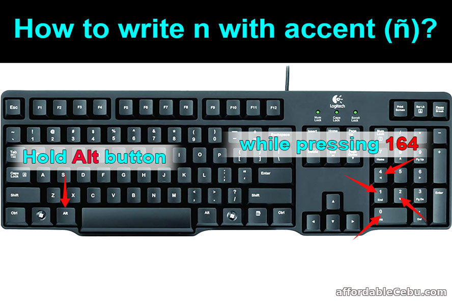 How to write n with accent?