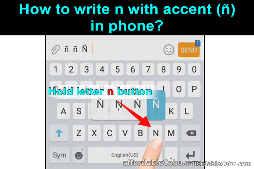 n with accent in phone