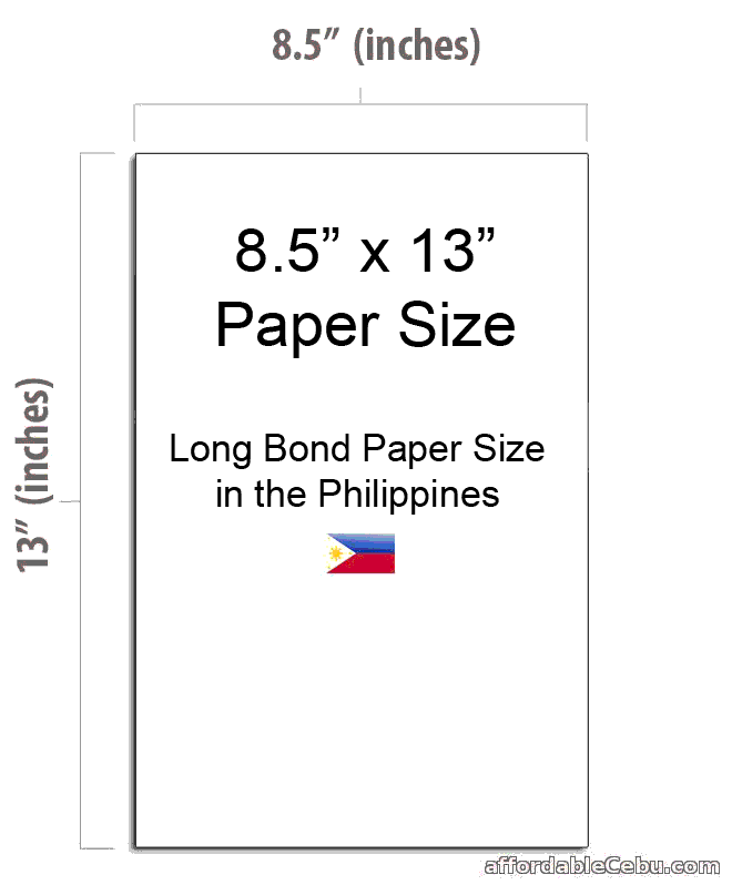 8.5 x 13 Paper Size