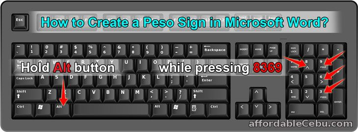 Create PESO Sign in Microsoft Word