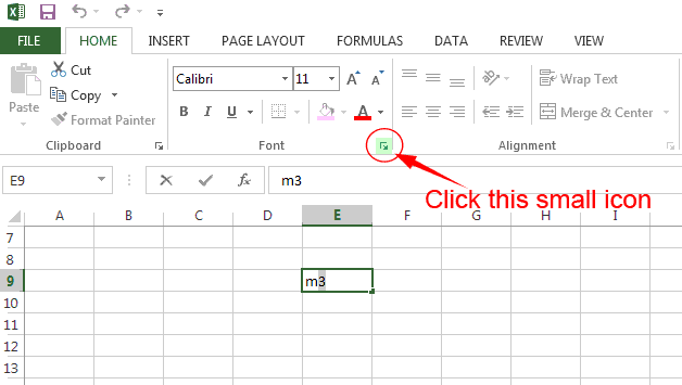 How to Insert Cubic Meter (m3) symbol in Excel? - Computers, Tricks ...