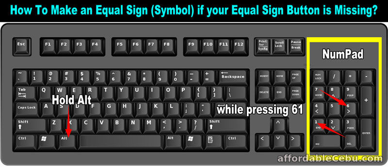 How To Type Or Make Equal Sign In Computer Keyboard Computers