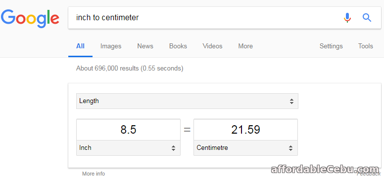 Google Unit Measurement Converter Tool
