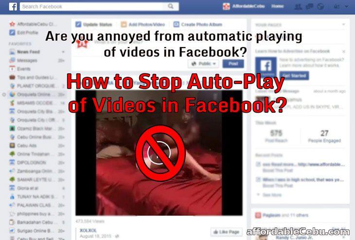 Stop Auto-Play of Videos in Facebook